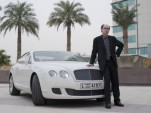 Novelist Jeffery Deaver with James Bond's newest ride, the Bentley Continental GT