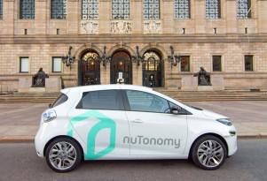 nuTonomy self-driving prototype on the streets of Boston