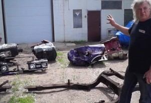 Owner Bob Heroux surveys the remains of his stolen '68 Oldsmobile Cutlass
