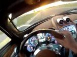 Pagani chief test driver Davide Testi lashes the Pagani Huayra in first-person view