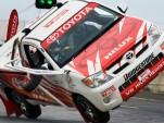 Panasonic Toyota Racing driver Timo Glock in Toyota Hilux