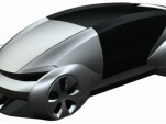 Patent drawing for Volkswagen electric car concept - Image via Autoblog
