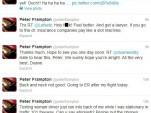 Peter Frampton tweets about being hit by a distracted driver