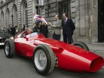 Pink Floyd's Nick Mason in the Maserati 250F