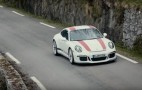 Porsche's Patrick Long takes a 911 R on historic Tour de France Automobile stage