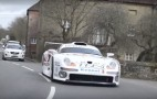 Take a ride in the Porsche 911 GT1 down a public street