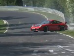 Porsche 911 GT2 RS loses control on Nurburgring