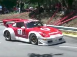 Porsche 911 GT2 takes on a hill climb event