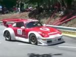 Porsche 911 GT2 takes on a hill climb event