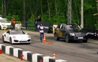 Bentley Bentayga lines up with 911 Turbo at the drag strip