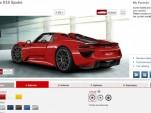 Porsche 918 Spyder online configurator