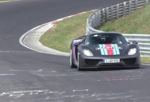 Porsche 918 Spyder back at the Nürburgring