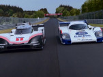 Porsche 919 and 956 C join together for a lap of the Nürburgring