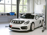 Porsche 718 Cayman GT4 Clubsport rally car concept