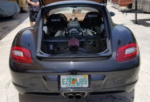 Porsche Cayman with Ford Mustang 5.0-liter V-8