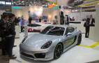 """Porsche Turbo Charging"" showcased with electric Porsche Cayman"