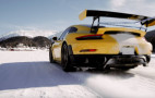 Watch Porsche perform an ice ballet with a 911 GT2 RS and a vintage 911 rally car at St. Moritz