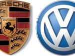 Porsche logo and VW logo