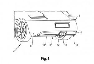 Porsche active rear aero diffuser