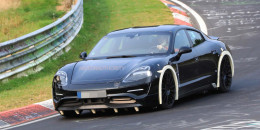 2020 Porsche 'Mission E' electric sedan spy shots - Image via S. Baldauf/SB-Medien