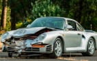 Crashed 1987 Porsche 959 heading to auction