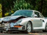 Crashed 1987 Porsche 959 heads to auction