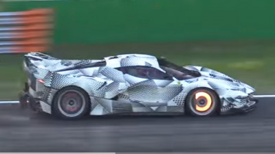 Possible Ferrari FXX K Evolution prototype testing at Monza