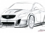 Preview sketch of SLP Performance's modern-day GNX
