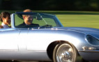 Electric Jaguar E-Type whisks royal couple from Windsor Castle