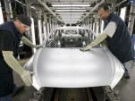 Production line at GM's Orion Assembly plant in Michigan