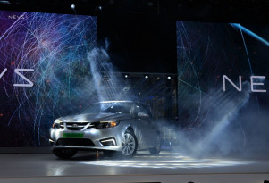 First all-electric NEVS 9-3 sedans (nee Saab) built in China two weeks ago