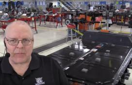 Professor John Kelly of Weber State University, Utah, shown before Chevy Bolt EV battery disassembly