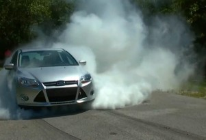 Proof that the new Ford Focus can do a proper burnout