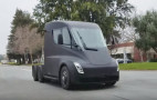 See the Tesla Semi silently cruising along a suburban street