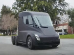 Prototype for Tesla Semi electric semi-trailer truck