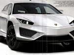 Purported image of Lamborghini's upcoming SUV, via Quattroruote
