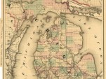 Railroad map prepared by the Michigan Railroad Commission, circa 1876.
