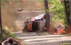 Rally Car Wrecks Hard And Drivers Walk Away: Video