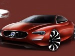 Re-imagined modern Volvo P1800 sketch for 50th anniversary