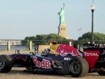 Red Bull's RB7 visits the Statue of Liberty