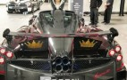 Red carbon fiber Pagani Huayra BC has secret 24 karat gold crowns