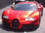 Red chrome Veyron wrap by Dartz
