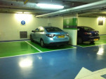 Renault Fluence ZE charging at Better Place pubic charge spots in Israel [photo: Brian of London]
