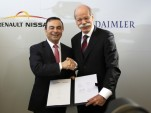 Renault-Nissan CEO Carlos Ghosn and Daimler AG CEO Dieter Zetsche