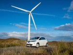 Renault Zoe electric car on the Outer Hebrides