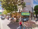 Rendering of future Drive Oregon storefront in downtown Portland for education about electric cars