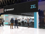 Rendering of Renault Electric Vehicle Experience Center, opened in Taby Centrum, Stockholm, Feb 2018