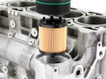 Replaceable cartridge oil filter used in Ecotec engines fitted to 2011 Chevrolet Cruze
