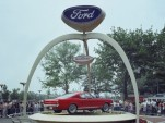 Replica of the Ford Mustang's stand at the 1964 World's Fair in New York