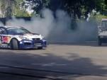 Rhys Millen hoons the Genesis Coupe drift car through HMA HQ